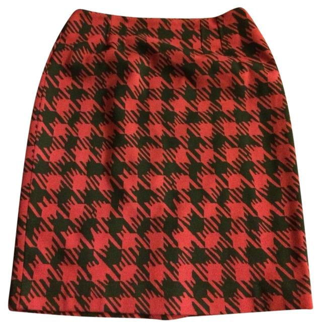 Halogen Houndstooth Career Work Work Christmas Pencil Holiday Party Fall Nordstroms Skirt Red And Black