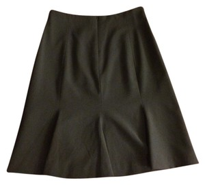 Calvin Klein A-line Work Professional Flared Flowy Career Office Attire Office Work Work Interview Skirt Black