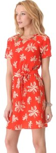 viva vena! short dress Red Cut-out Floral Hawaii Above The Knee Nwot Luau Hawaiian Flowers Luau on Tradesy
