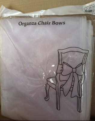 Elegant White Organza Chair Bows
