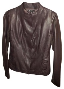 Kenneth Cole Leather Burgundy, Mahogany Leather Jacket
