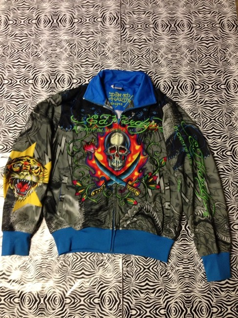 Ed Hardy Nylon Size: Medium MULTI Jacket