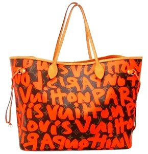Louis Vuitton Tote in Graffiti Orange