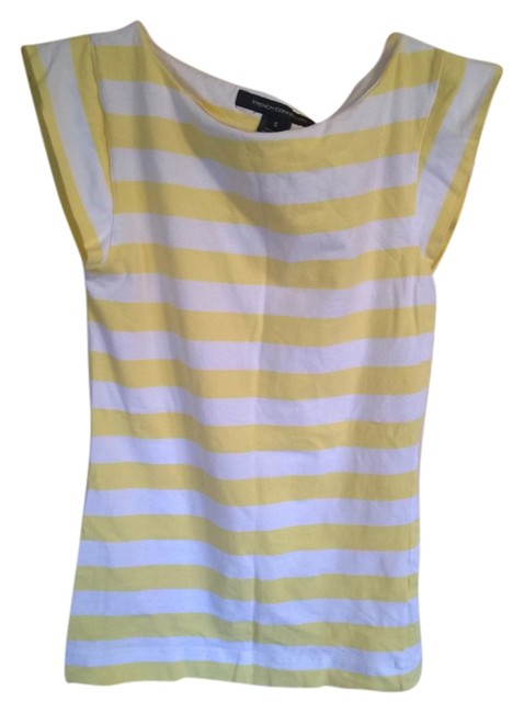 Preload https://item4.tradesy.com/images/french-connection-white-and-yellow-tank-topcami-size-6-s-935688-0-0.jpg?width=400&height=650