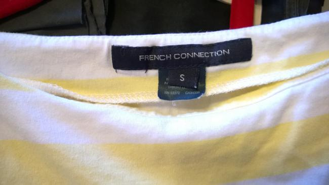 French Connection Top White and Yellow