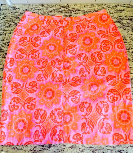 Tibi Floral Paisley Mother Of Pearl Skirt Pink
