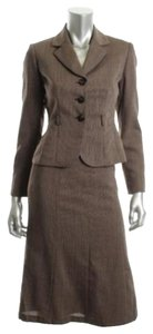 Tahari Sofie Brown 2 Piece Skirt Suit Size 0P