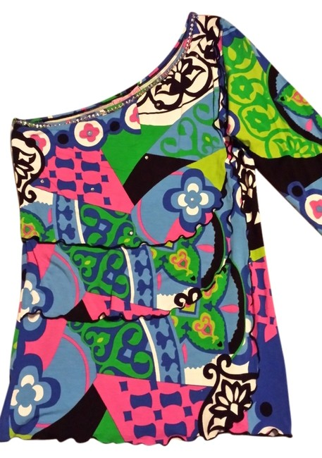 Joyous & Free Bnwt One Embellished Bright Beaded Night Out And Layered Top Multi
