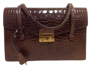 Prada Exotic ; Crocodile; Alligator; A Sound ; Luxury; Limited Edition Crocodile Alligator Limited Edition Shoulder Bag