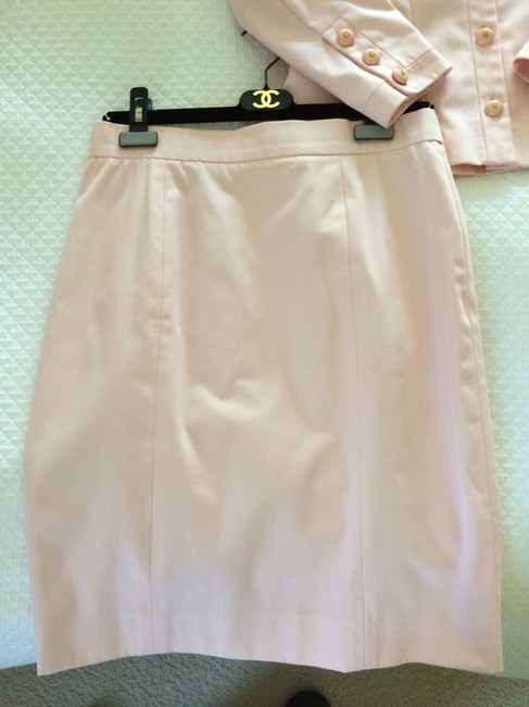 Chanel Pink Chanel Skirt Suit