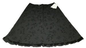 Speechless Taffeta Flocked Skirt Black