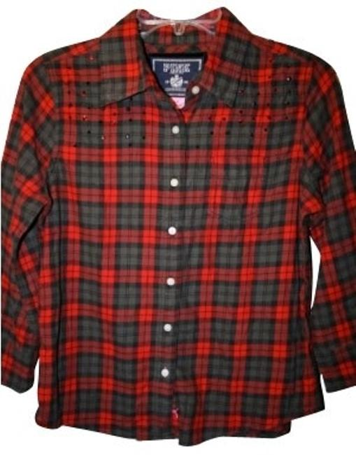 Preload https://item2.tradesy.com/images/victoria-s-secret-red-plaid-button-down-top-size-8-m-936-0-0.jpg?width=400&height=650
