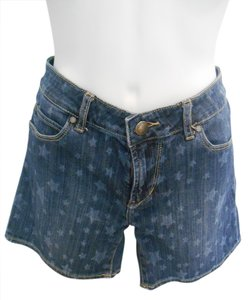 Articles of Society Denim Stars Patriotic July 4 Summer Independence Boho Jeans Classic Navy Mini/Short Shorts Blue