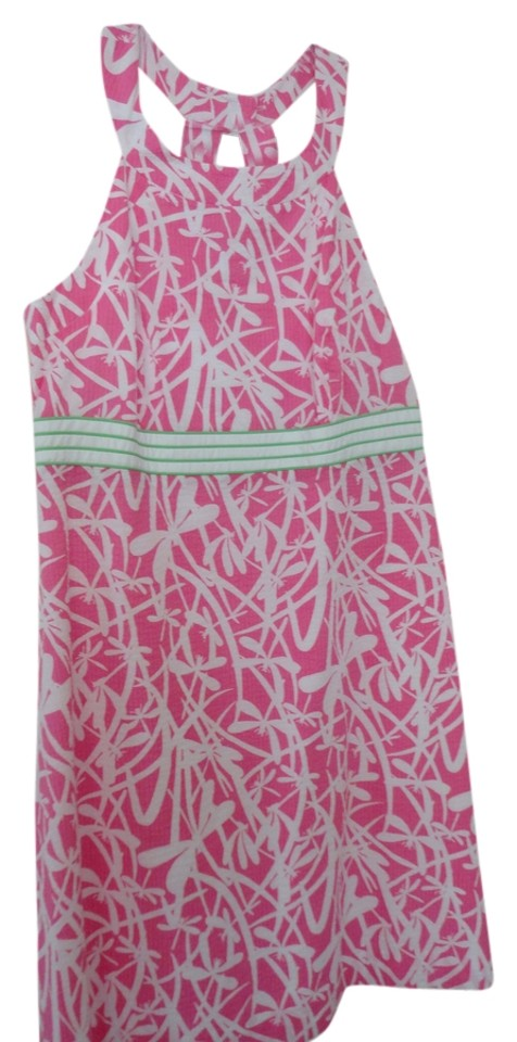 bc55dd35c955 Lilly Pulitzer Pink White Tinsley Dress Hotty Light My Fire Short Casual  Dress. Size  14 (L) Length  Above Knee ...