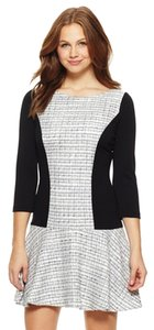 Jessica Simpson Long Sleeve Drop Waist Tweed Dress