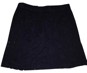 Ann Taylor LOFT Knee-length Crochet Skirt Black