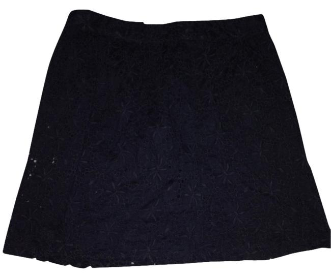 Ann Taylor LOFT Crochet Summer Skirt Black