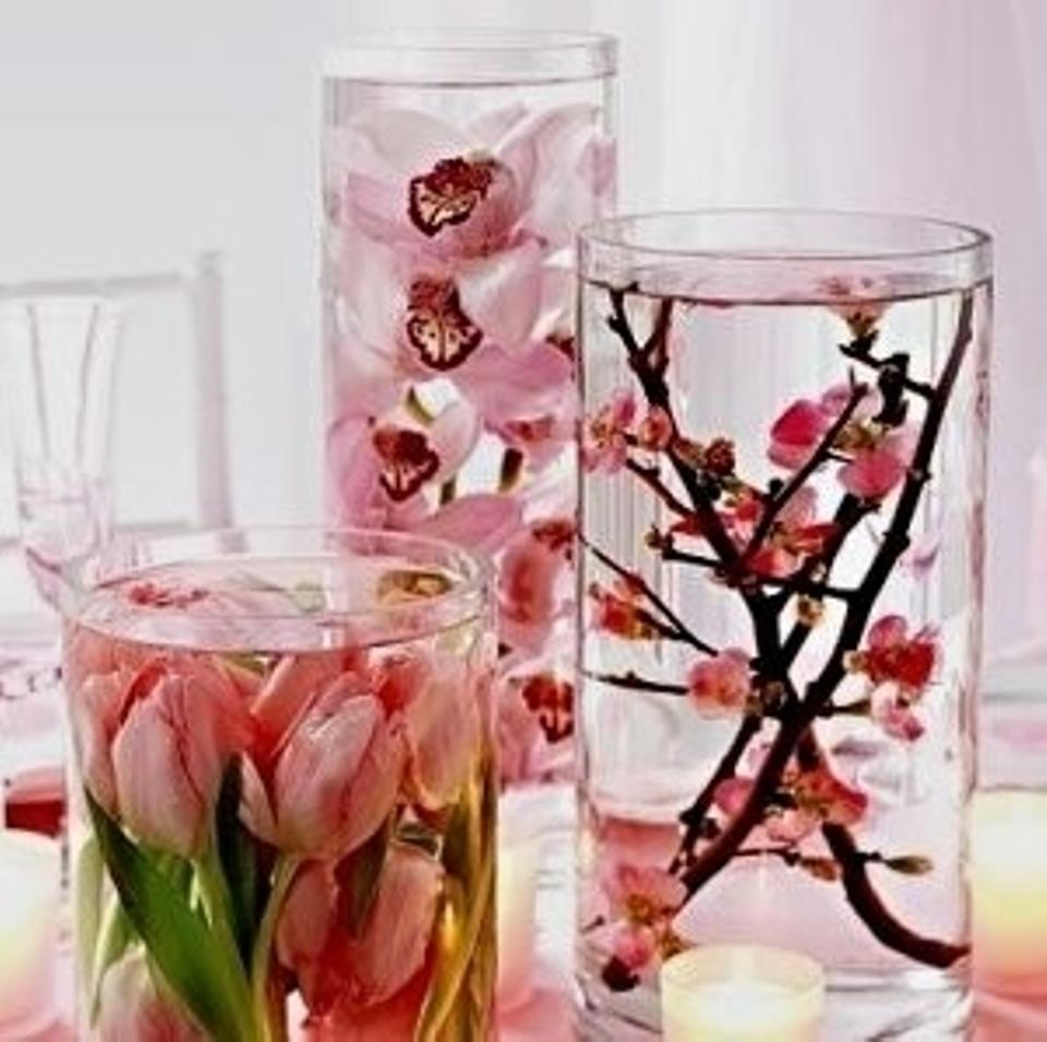 Clear Lot Of 36 Cylinder Vases Set Of 3 Assorted Sizes Centerpiece