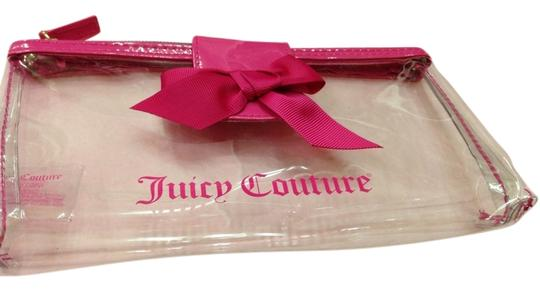 Preload https://item1.tradesy.com/images/juicy-couture-cosmetic-pouch-clear-with-pink-lining-clutch-936360-0-0.jpg?width=440&height=440