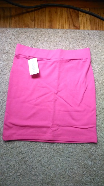 Forever 21 Girly Mini Skirt Bright pink