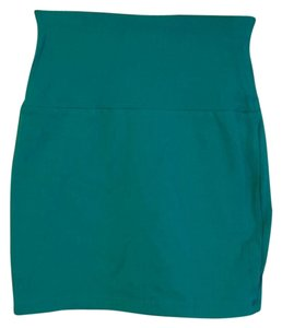 Forever 21 Bright Mini Skirt Teal