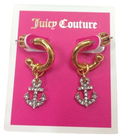 Juicy Couture 100% Authentic JUICY COUTURE SET SAIL Hoop Earrings YJRUOE87 NWT