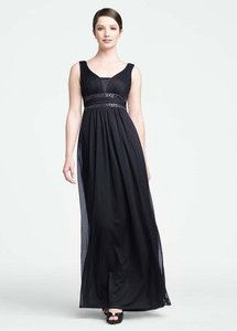 David's Bridal Navy Blue F15136 Dress