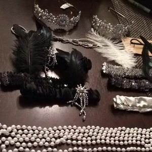 Gatsby 1920's Accessories Headbands And Pearls