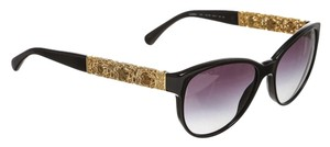 Chanel Chanel Black and Gold Cat Eye Bijoux 14S Sunglasses c.501/S6