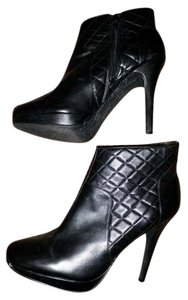 Beverly Feldman Leather Quilted Black Boots