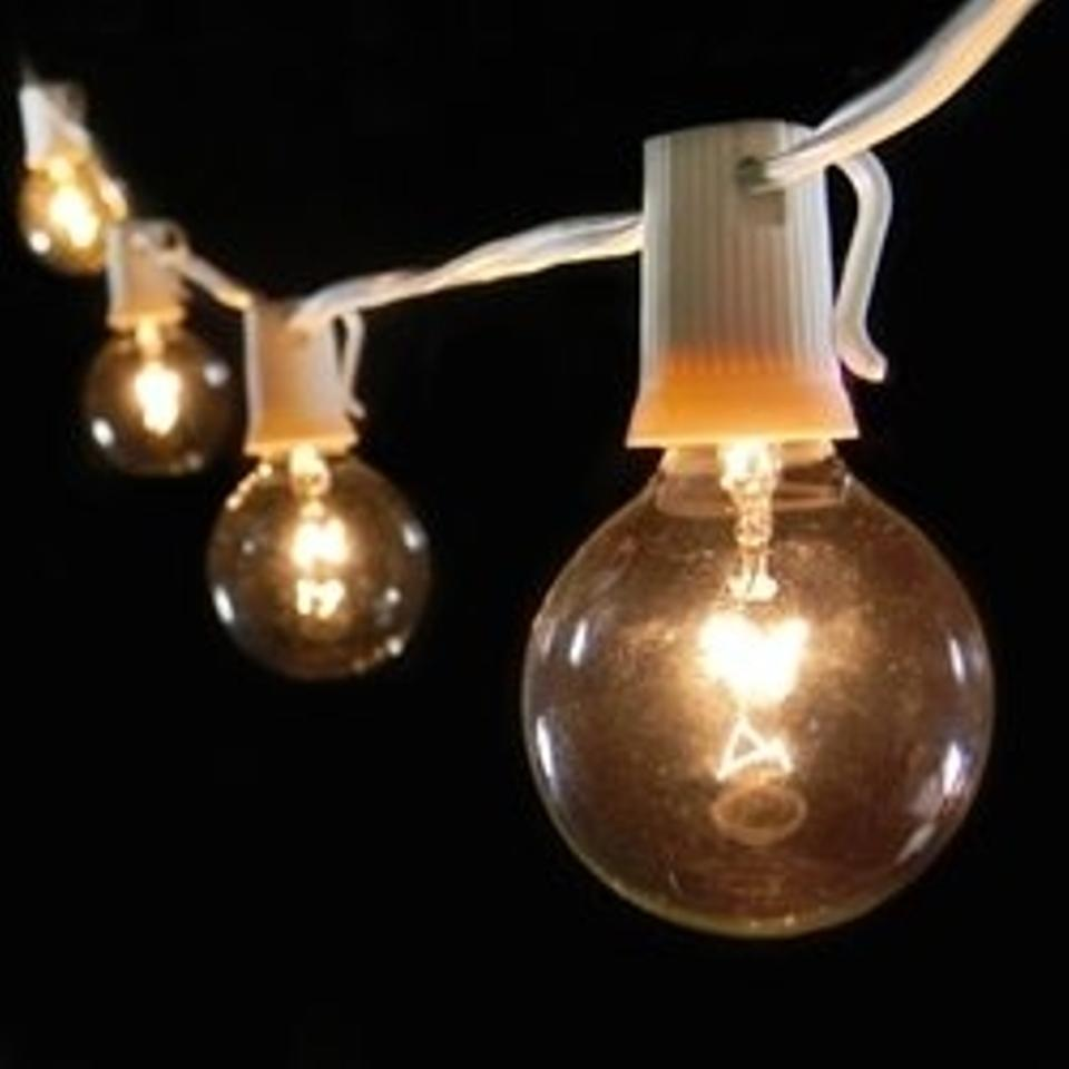White Globe String Lights 2 Inch Bulbs Wire Other Tradesy Wiring A Bulb Light Fixture