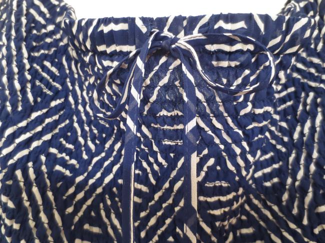 navy blue/print Maxi Dress by Andrew Charles Maxi And White Strapless Electric Pleats