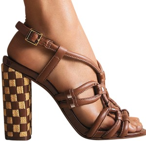 Tory Burch Layce Sandal Brown Natural Brown/Tan Sandals