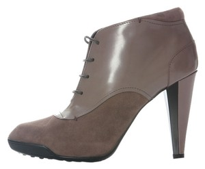Tod's Bootie Heels Lace Up Leather Boots