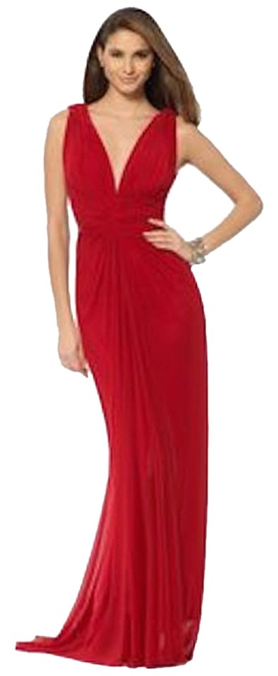 Cache Red Grecian Gown Long Formal Dress Size 12 (L) - Tradesy