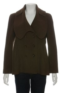 Givenchy Military Brown Pea Wool Coat