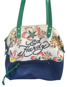 Ed Hardy Satchel in Multi