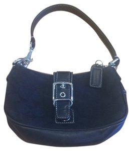 Coach Buckle Signature Hobo Bag