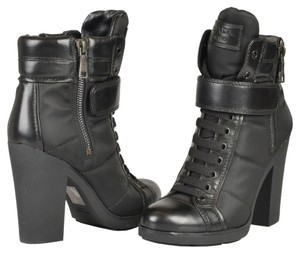 Prada High Heel Ankle Black Boots