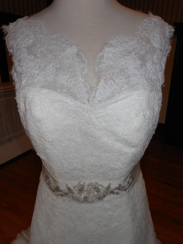 sports shoes special for shoe 100% high quality Pronovias Off White Amman Formal Wedding Dress Size 8 (M) 69% off retail