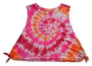 Forever 21 Tie Dye Cotton Festival Top Pink, Orange, Red