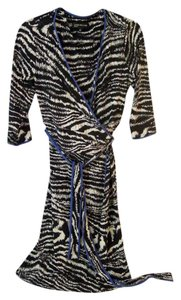Jones New York Wrap Animal Print Dress
