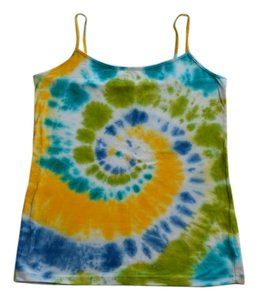 Tie Dye Cotton Summer Top Royal Blue, Lime, Aqua, Yellow