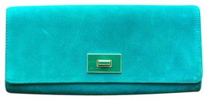 Banana Republic Suede Emerald Clutch