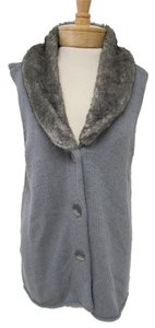 J. Jill J Knit Faux Fur Sweater