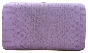 Target Date Night Snakeskin Purple Clutch