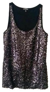 Express Sequin Party Nightout Top Black