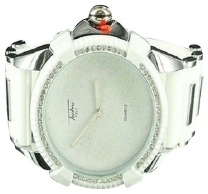 Other Bullet Silicon Band Watch Epic White Sharp Techno Steel Back Men Kc Bling Master