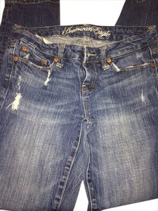 American Eagle Outfitters Aeo Size 4 Straight Leg Jeans-Medium Wash