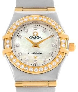 Omega Omega Constellation My Choice Mini Diamond Watch 1267.75.00 Box Papers